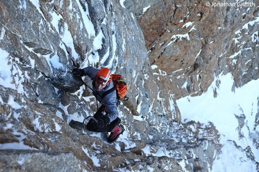 Ueli Steck on Grande Jorasses