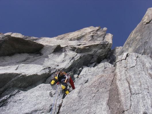 pijnlijke ledematen van de rare klimtechnieken