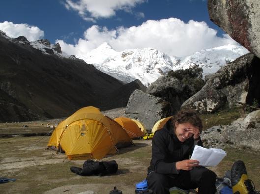 an in Ishinca basecamp (4450m)