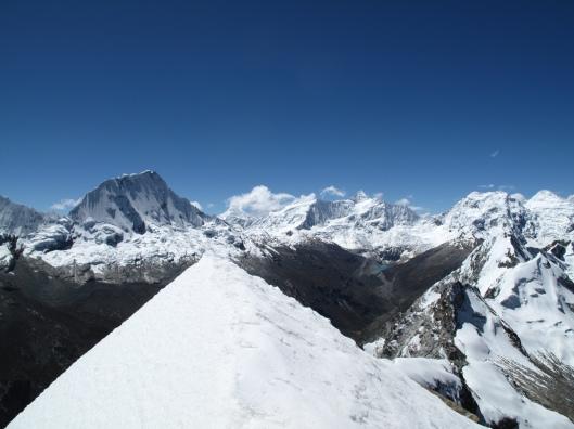 We vonden het zicht vanop de top al mooi genoeg zonder ons erbij