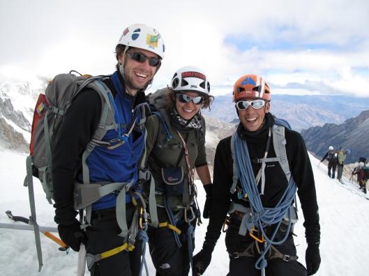 global warming? op de top van Ishinca (5530m) in fleece