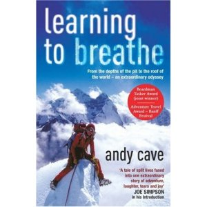 Learning to breathe, Andy Cave's eerste boek