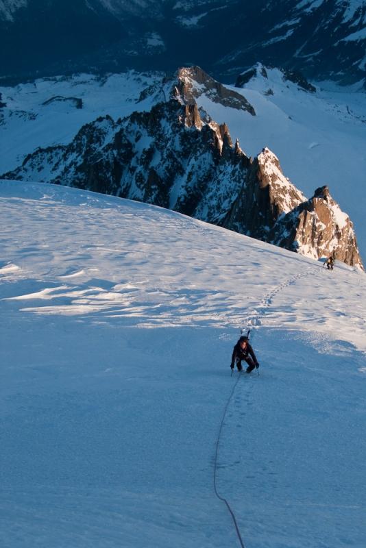 Jonas 50 meter onder de top