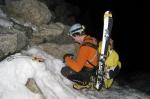 Sam aan de eerste rapel richting gletsjer