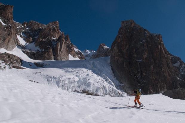 Richting de top van de Aiguille d'Argentière (3900m) (c) YdB