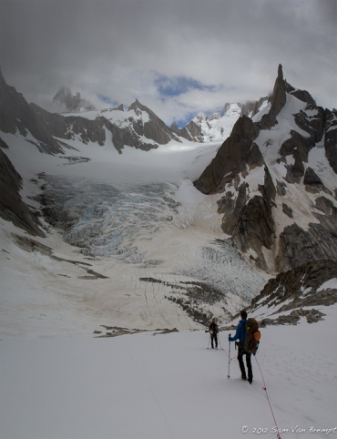 On our way to the Northern Fitz Roy Glacier