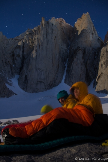 An early start, Fitz roy in the back