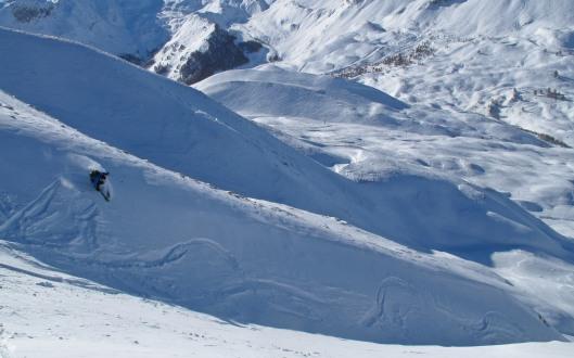 Dirk in de afdaling van de Paneyron (2785m) (c) YdB