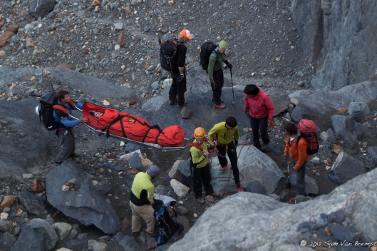 Helping the El Chalten rescue team