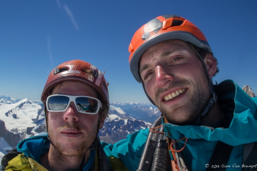 Tim and Sam on the summit of Cerro Torre