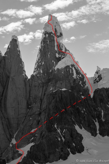 The Ragni on the southwestside of Cerro Torre