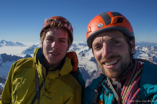 Tim and Sam on the summit of Fitz Roy