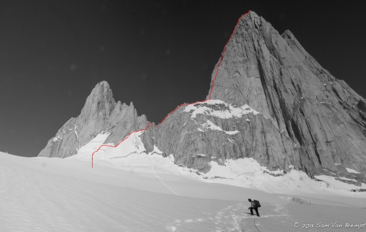 Fitz Roy with the Franco-Argentina and the approach we took