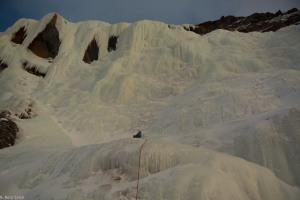 Kongsvoldfossen; een zee van ijs