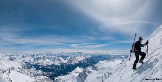 Frank bijna op de top van Piz Palü (3905m)