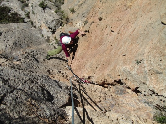crack-climbing in Diedros Mágicos ©sanne