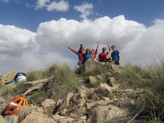 Samen op de top van Oujdad met Simon, Christophe en Sarah
