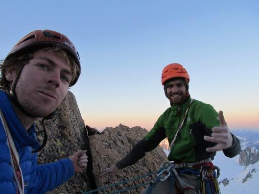 Eerste keer op de top van Grand Cap