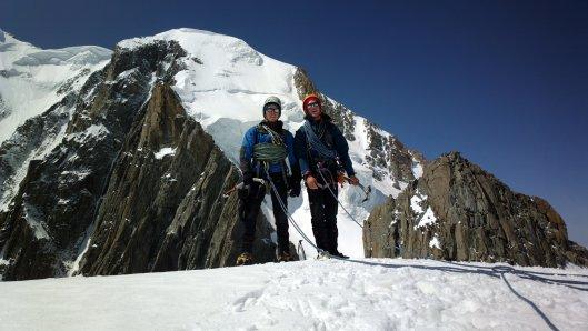 Denis en Friedemann op de eerste Pointe Lachenal ©Jeroen