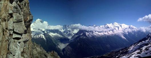 Op de Tour de Crochues werden we getrakteerd op een fenomenaal uitzicht op het Mont Blanc Massief ©Jeroen