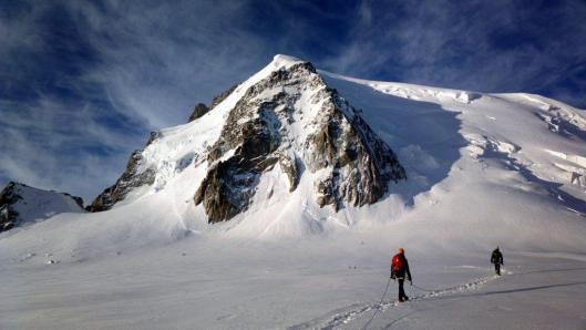 Aanloop naar de Triangle du Tacul ©Jeroen