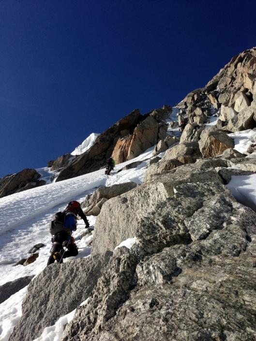 Vlak voor ijscouloir op de Chardonnet ©Jeroen