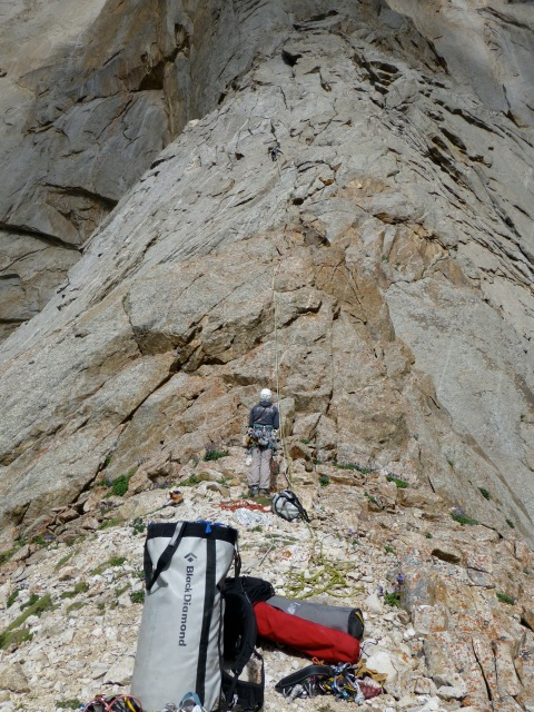 "Sanne and An leading the very first pitches of ""Alperin"" ©Nicolas"