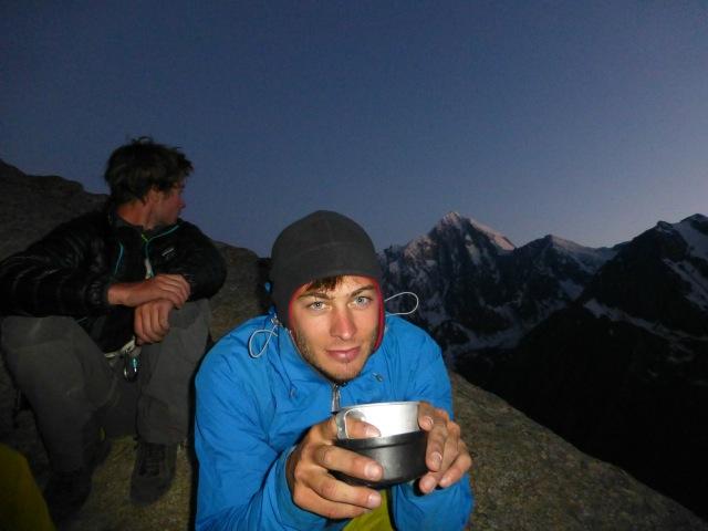 Nicolas enjoying a hot drink @R10