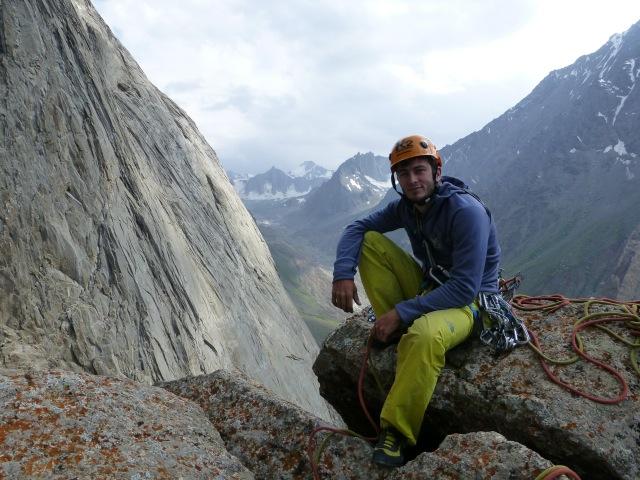 Nicolas on the summit of the Pamir Pyramid ©Lander