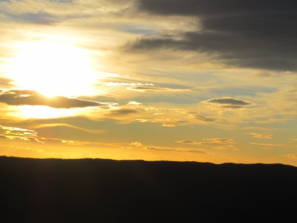 de zonsondergang van op de Pison © Denis