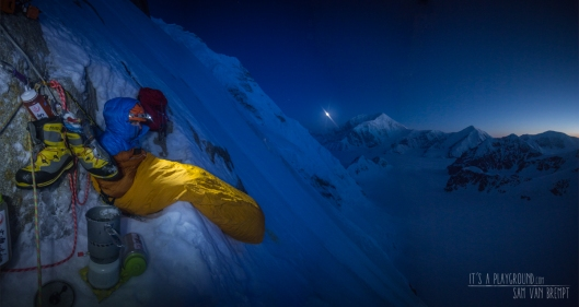 Bivy at the first icefield