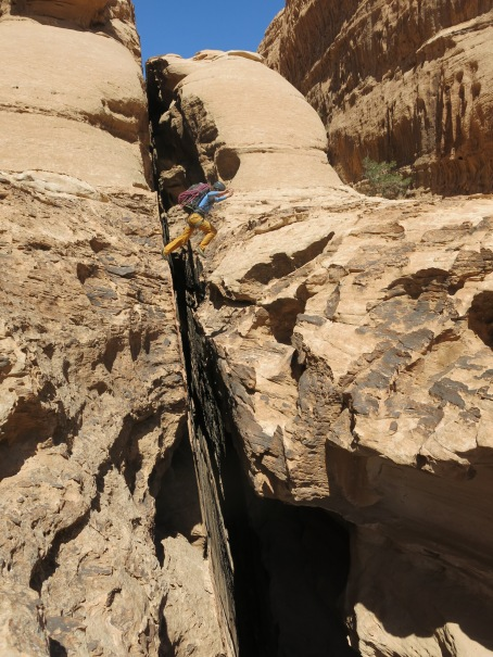 Jump the crevasse.....