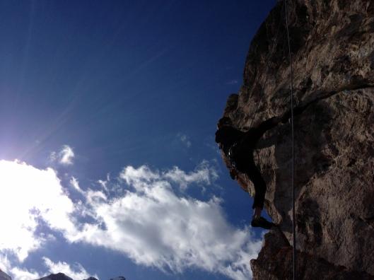 Een afternoon klimmeke vlakbij de Heidelberger Hutte ©Kristof