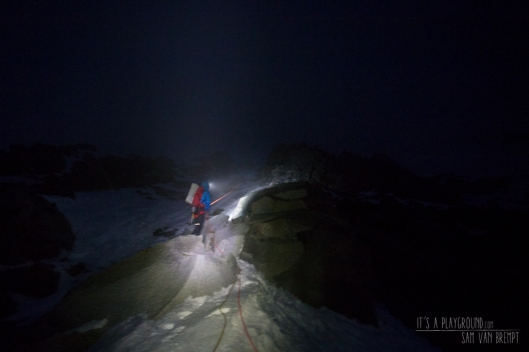 Maxime descending trough the night