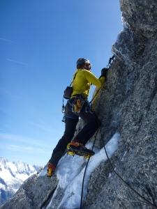 Geëxposeerd om het hoekje klimmen