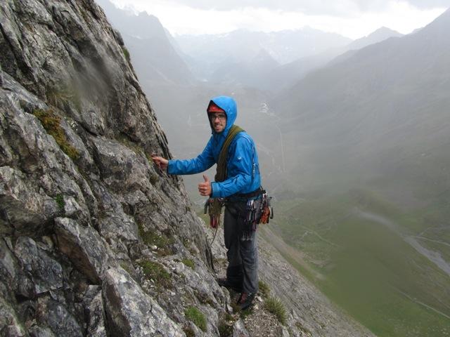 Fun climbing in the rain ©Sanne
