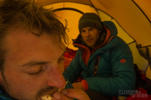 The cold base camp live