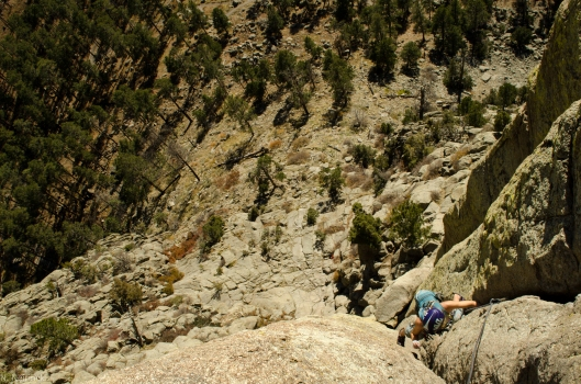 Molly on the second pitch of 'Durrance'