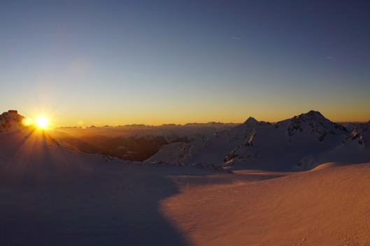 Overnachten in de bergen heeft zo zijn voordelen ©Kristof Buyse