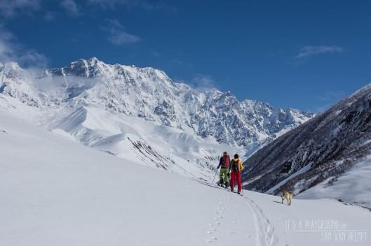 Altijd indrukwekkende uitzichten in de Kaukasus