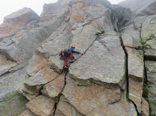 Friedemann doing some hard moves on his first ascent ©Sanne