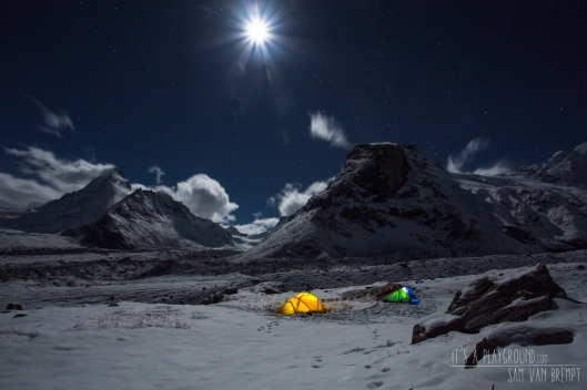 Basecamp at night