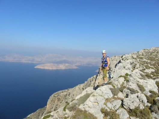 An on the summit of Telendos island ©Sanne